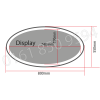 Double Sided LED PROJECTION LIGHT BOX ILLUMINATED SHOP SIGN WATERPROOF OVAL -OVAL-5580