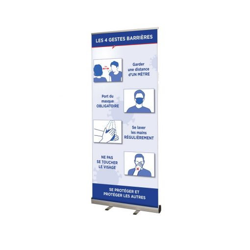 Roller Banner Pop / Roll / Pull up Exhibition Display Stand With Printed Artwork Shop Display