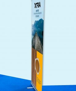 85x200CM Roller Banner Pop / Roll / Pull up Exhibition Display Stand With Printed Artwork Shop Display